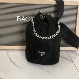 Prada bucket pouch with generic straps READ